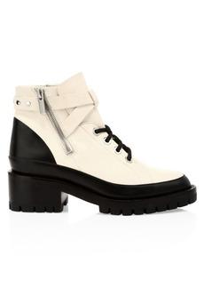 3.1 Phillip Lim Hayett Colorblock Leather Combat Boots