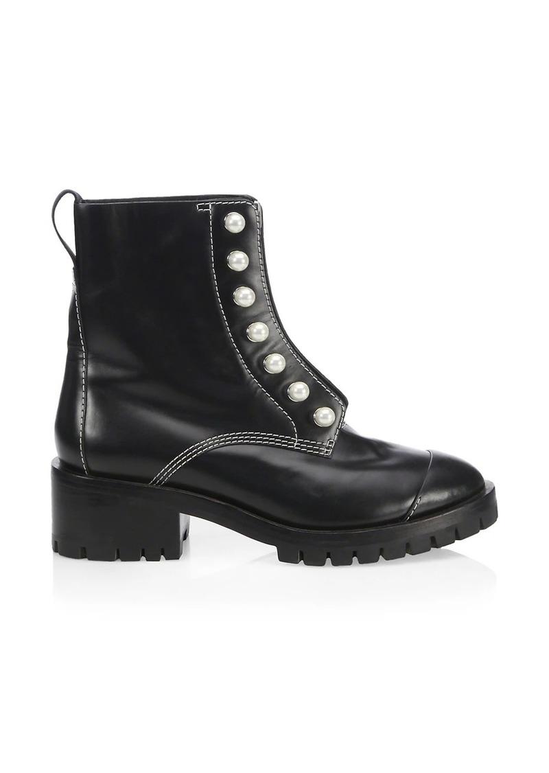 3.1 Phillip Lim Hayett Faux Pearl Leather Combat Boots