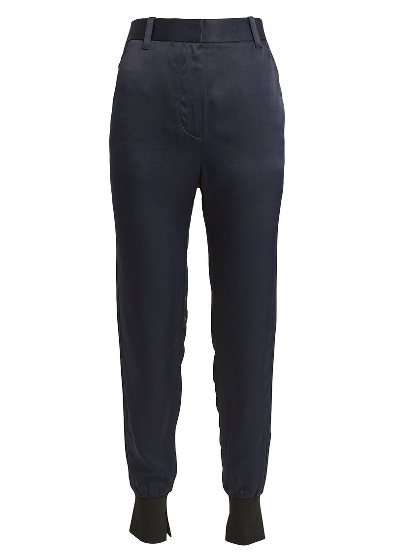 3.1 Phillip Lim High-Rise Satin Joggers