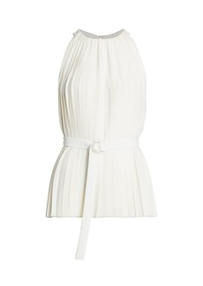 3.1 Phillip Lim Knife Pleated Belted Tank Top
