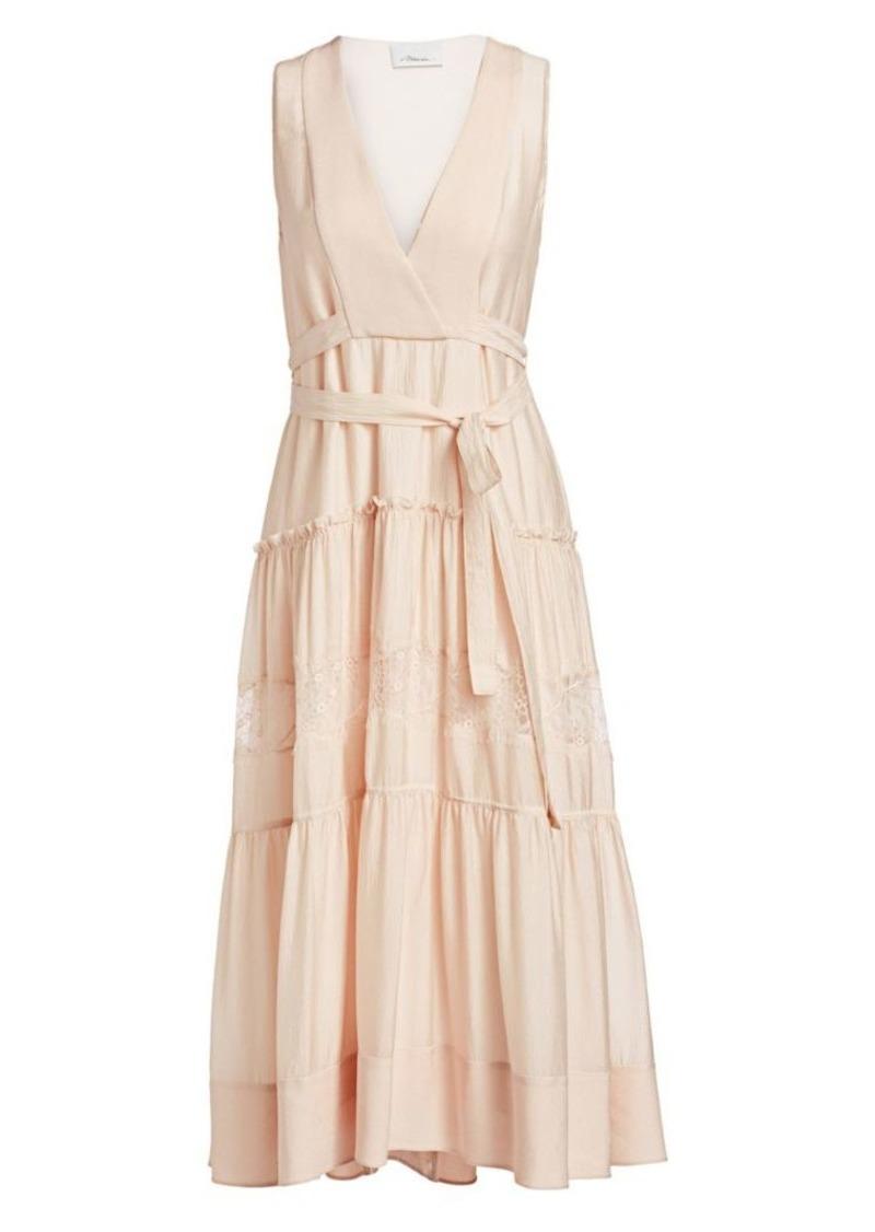 3.1 Phillip Lim Lace & Silk Belted Midi Dress