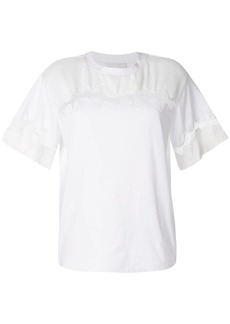 3.1 Phillip Lim Lace Insert Satin T-Shirt