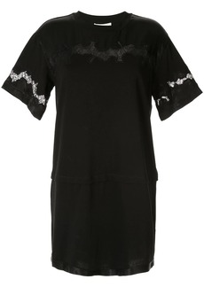 3.1 Phillip Lim Lace Insert Satin T-shirt Dress