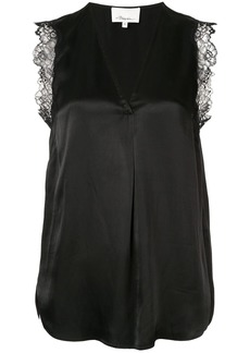 3.1 Phillip Lim Lace Trim V-Neck Tank
