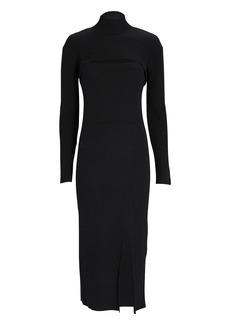 3.1 Phillip Lim Layered Wool-Blend Knit Midi Dress