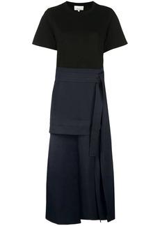 3.1 Phillip Lim layered wrap detail midi dress