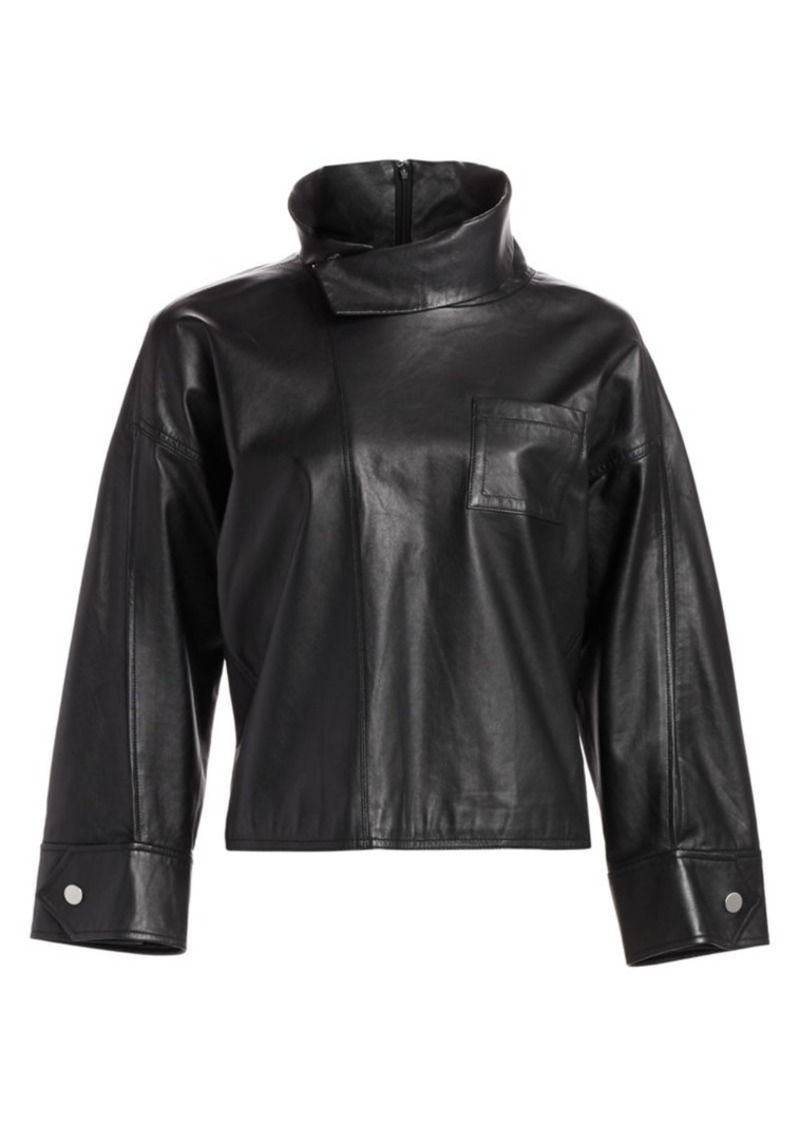 3.1 Phillip Lim Leather Zippered Blouse