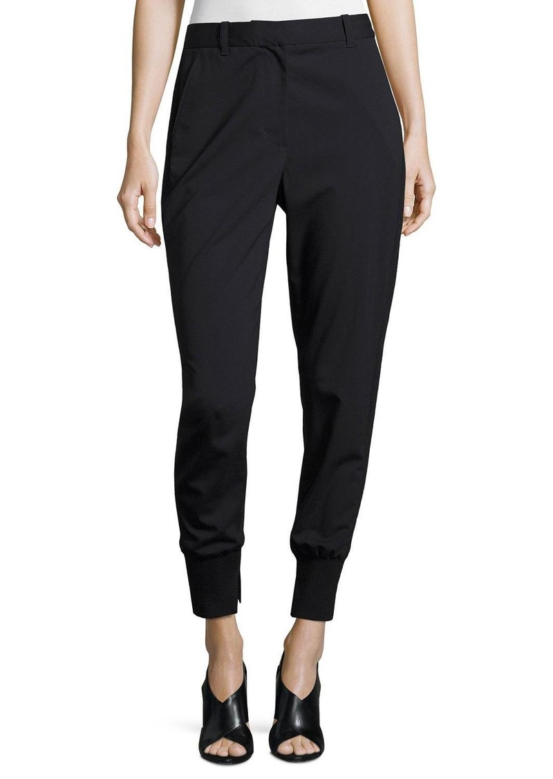 3.1 Phillip Lim Lightweight Stretch Wool Track Pants  Black