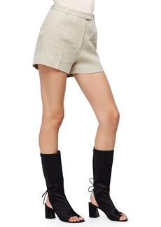 3.1 Phillip Lim Linen-Blend Flat-Front Shorts