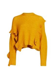 3.1 Phillip Lim Loft Crop Ruffle Wool & Alpaca-Blend Sweater