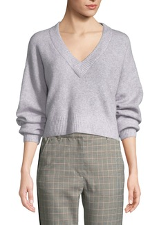 3.1 Phillip Lim Lofty Alpaca-Blend V-Neck Pullover Sweater
