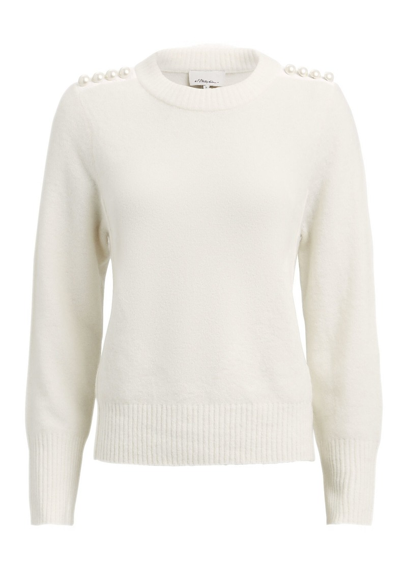 3.1 Phillip Lim Lofty Pearl-Embellished Crewneck Sweater
