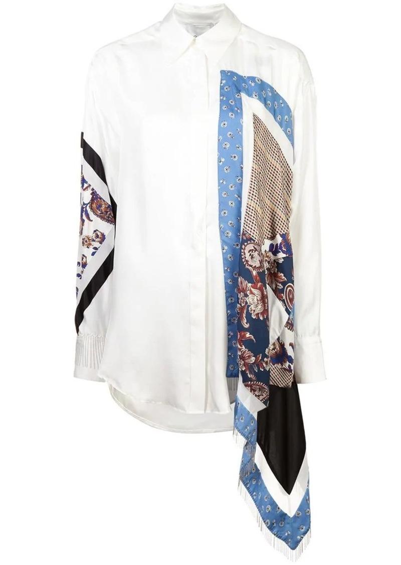3.1 Phillip Lim long patchwork shirt