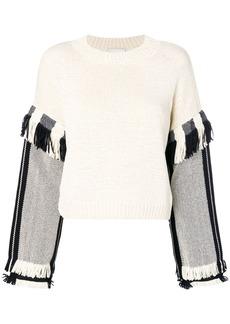 3.1 Phillip Lim Long Sleeve Fringed Sweater