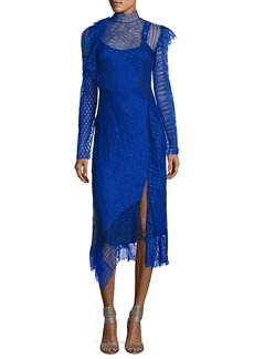 3.1 Phillip Lim Long-Sleeve Lace Patchwork Midi Dress