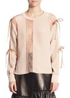 3.1 Phillip Lim Long-Sleeve Silk Top