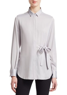 3.1 Phillip Lim Long Sleeve Tie-Waist Top