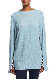 3.1 Phillip Lim Long-Sleeve V-Back Pullover Sweater
