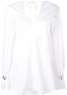 3.1 Phillip Lim Long Sleeve V-Neck Poplin Blouse