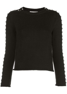 3.1 Phillip Lim boat neck stud-embellished jumper
