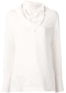 3.1 Phillip Lim removable scarf long-sleeved blouse