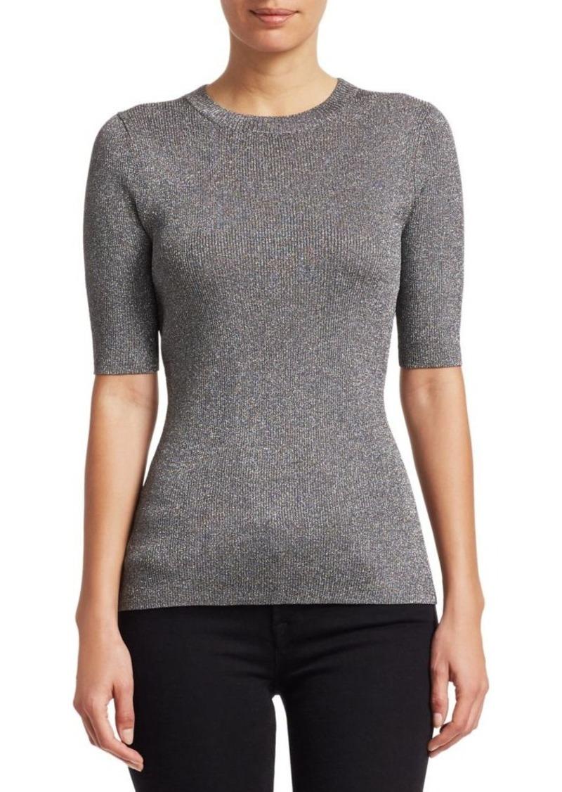 3.1 Phillip Lim Lurex Knit Short Sleeve Top