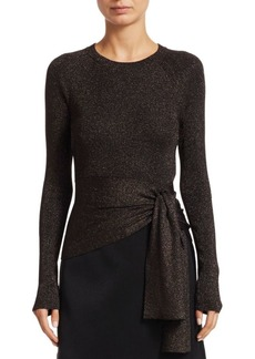 3.1 Phillip Lim Lurex Knit Side Tie Top