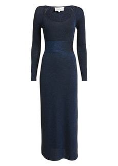 3.1 Phillip Lim Lurex Navy Midi Dress