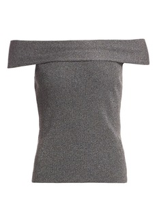 3.1 Phillip Lim Lurex Off-The-Shoulder Sweater