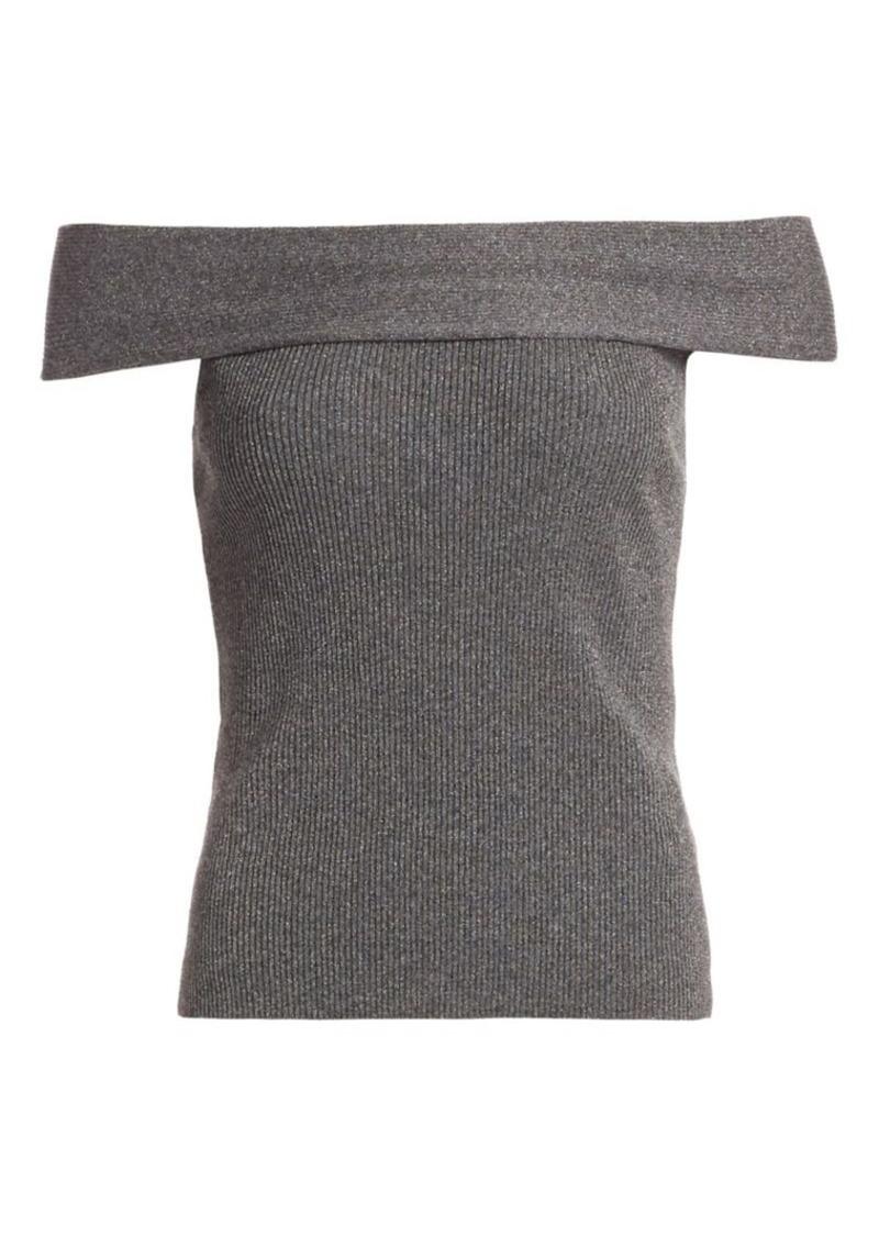 3.1 Phillip Lim Lurex Off-The-Shoulder Sweater