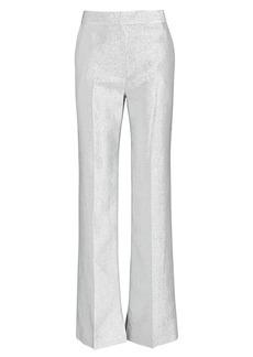 3.1 Phillip Lim Metallic Lamé Wide-Leg Trousers