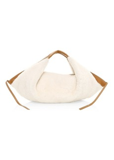 3.1 Phillip Lim Mini Luna Shearling & Leather Hobo Bag