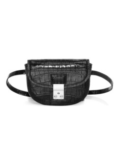 3.1 Phillip Lim Mini Pashli Croc-Embossed Leather Saddle Belt Bag