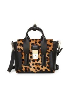 3.1 Phillip Lim Mini Pashli Leopard-Print Calf Hair Leather Satchel