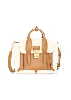 3.1 Phillip Lim Mini Pashli Shearling & Leather Satchel