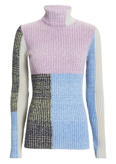 3.1 Phillip Lim Mixed Marled Patchwork Sweater