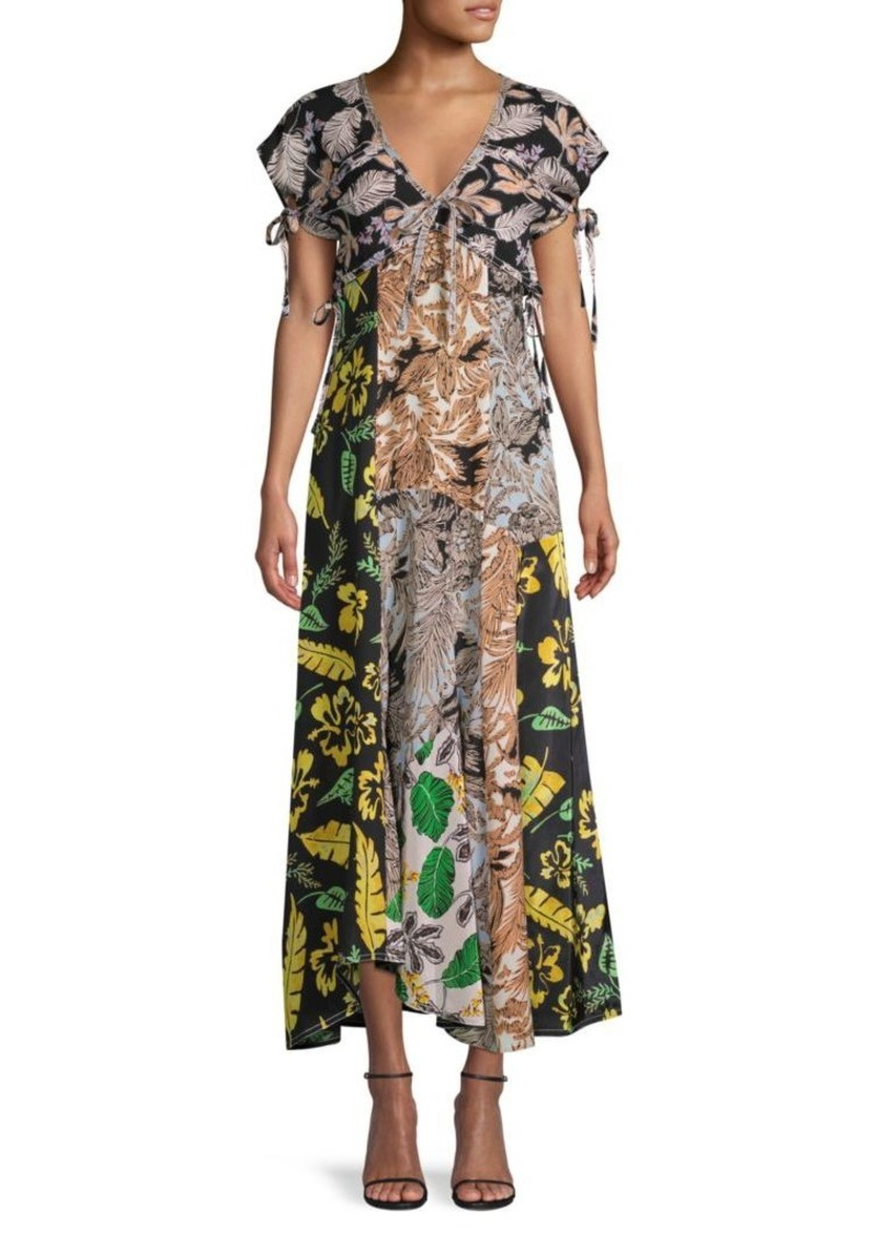 3.1 Phillip Lim Mixed-Print Maxi Silk-Blend Dress