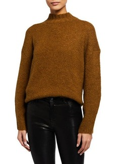 3.1 Phillip Lim Mock-Neck Drop-Shoulder Pullover Sweater