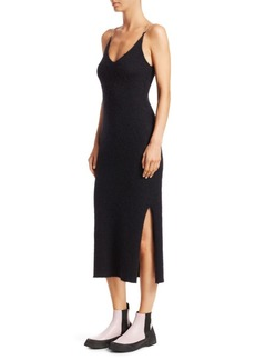 3.1 Phillip Lim Rhinestone-Strap Brushed Mohair Tank Midi Dress