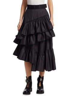 3.1 Phillip Lim Multi Layered Flamenco Midi Skirt