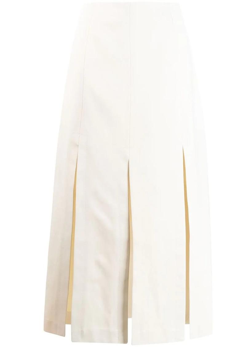 3.1 Phillip Lim Multi Slit Sateen Maxi Skirt