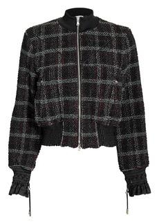 3.1 Phillip Lim Textured Tweed Bomber Jacket