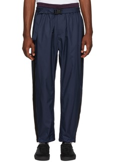 3.1 Phillip Lim Navy & Burgundy Double Track Lounge Pants