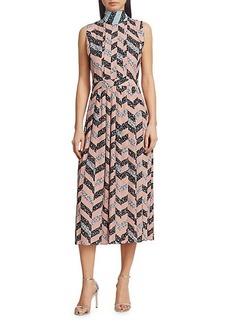 3.1 Phillip Lim Neck-Tie Pleated Midi Dress