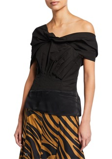 3.1 Phillip Lim Off-Shoulder Draped Top