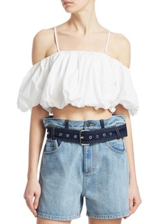 3.1 Phillip Lim Off-The-Shoulder Cropped Top