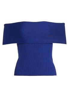 3.1 Phillip Lim Off-the-Shoulder Knit Top