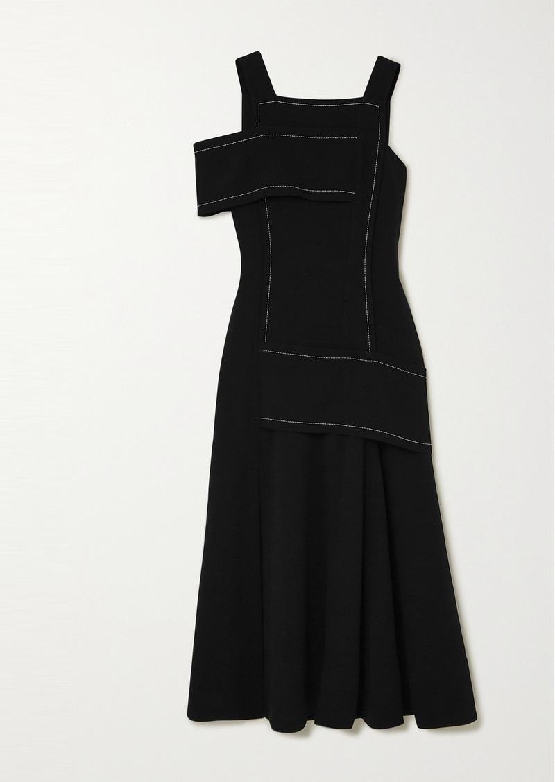 3.1 Phillip Lim One-shoulder Paneled Crepe Maxi Dress