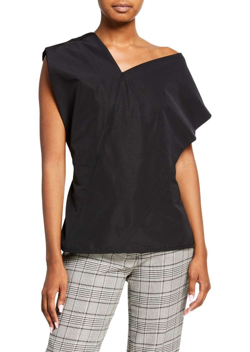 3.1 Phillip Lim One-Shoulder Wool Top