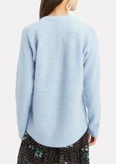 3.1 Phillip Lim Open Neck Blue Sweater